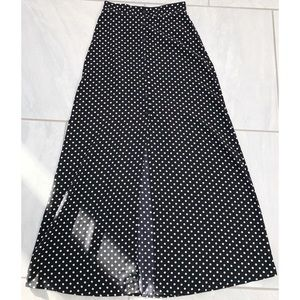 Forever 21 Polka Dot Maxi Skirt
